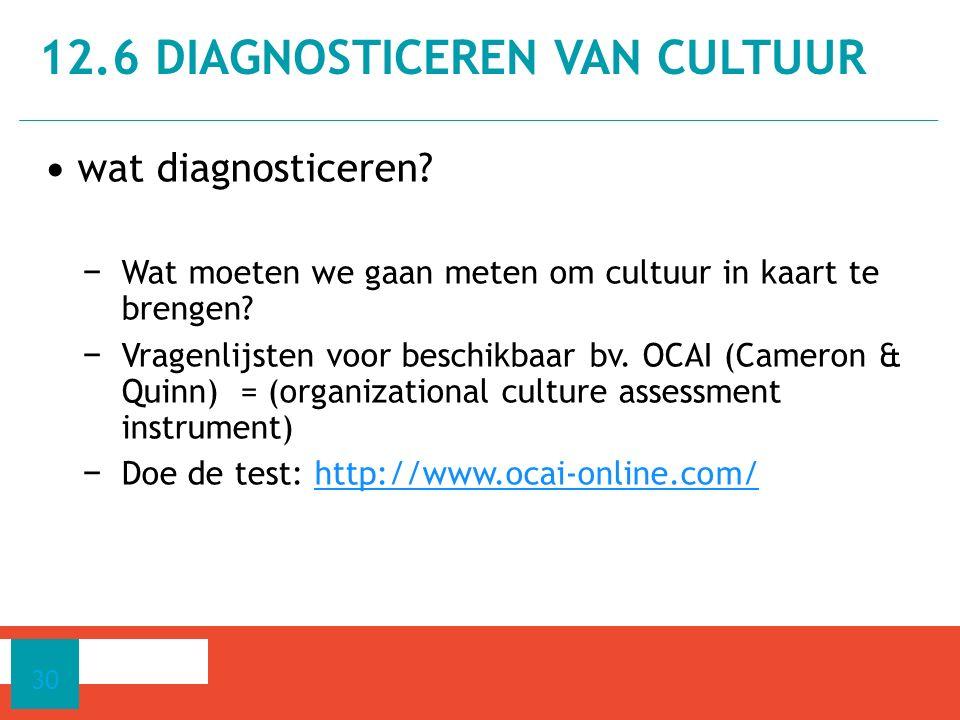 12.6 Diagnosticeren van cultuur