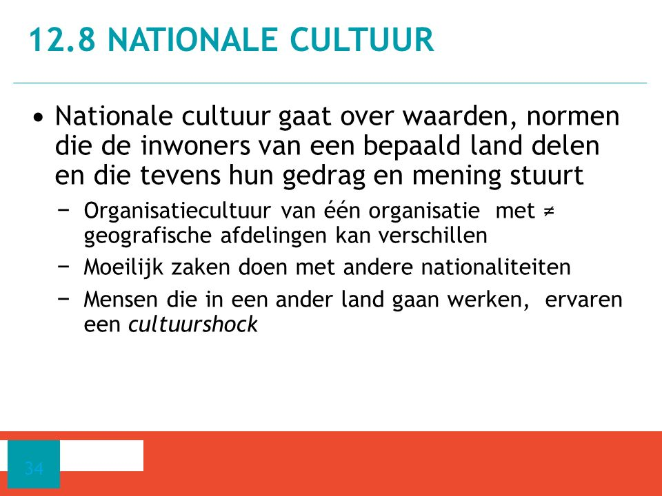 12.8 Nationale cultuur