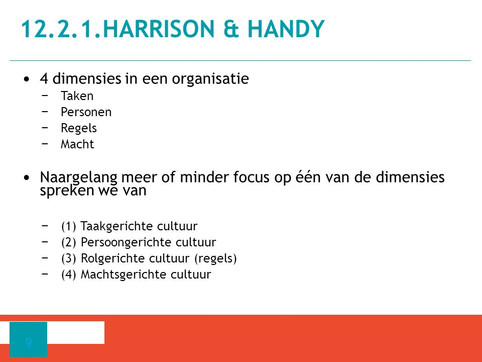 12.2.1.Harrison & Handy 4 dimensies in een organisatie