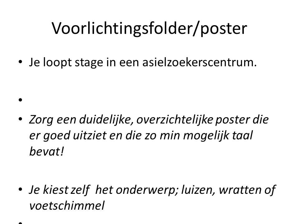 Voorlichtingsfolder/poster