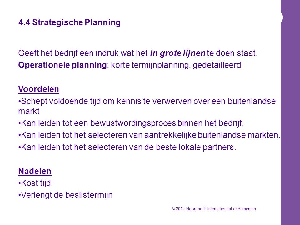 4.4 Strategische Planning