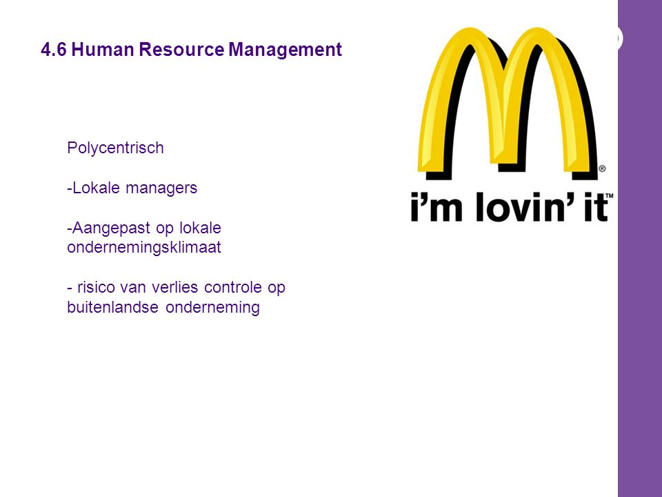 4.6 Human Resource Management