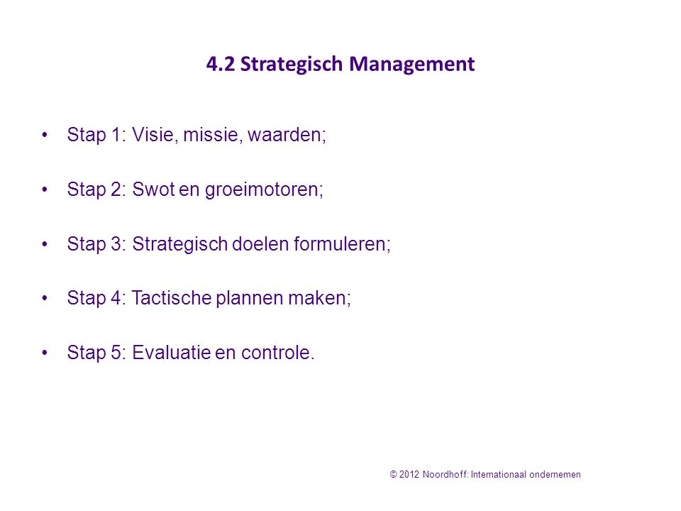 4.2 Strategisch Management