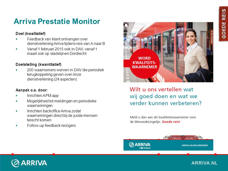 Arriva Prestatie Monitor
