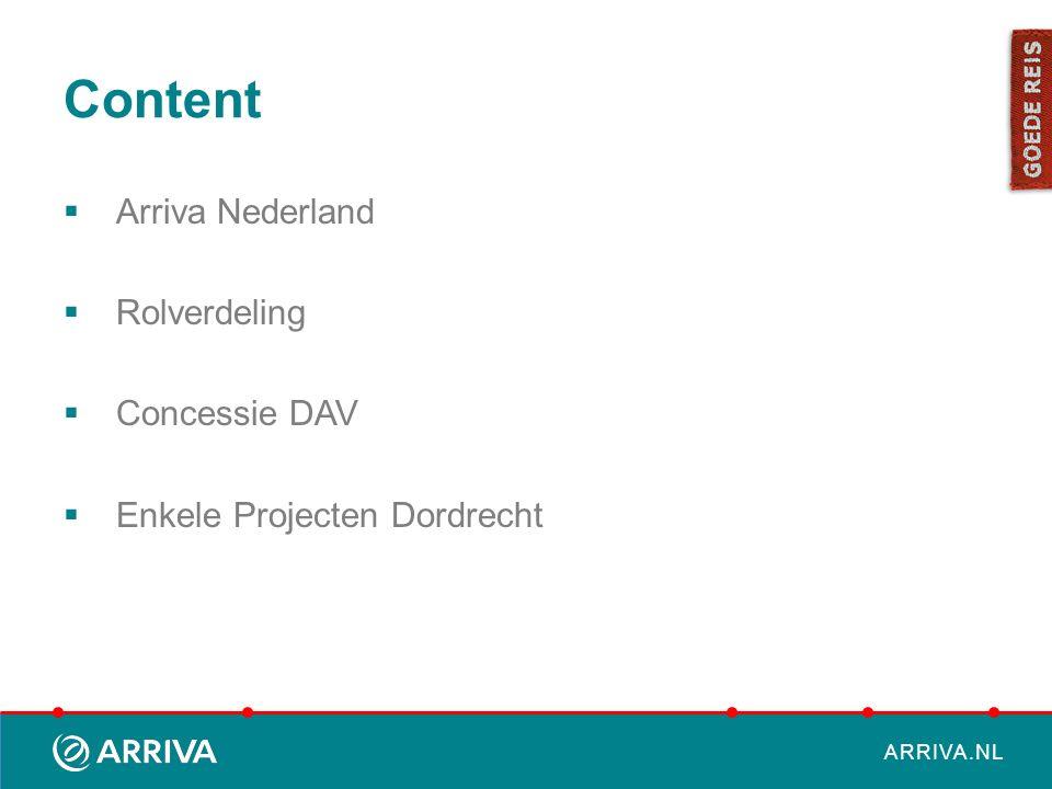 Content Arriva Nederland Rolverdeling Concessie DAV
