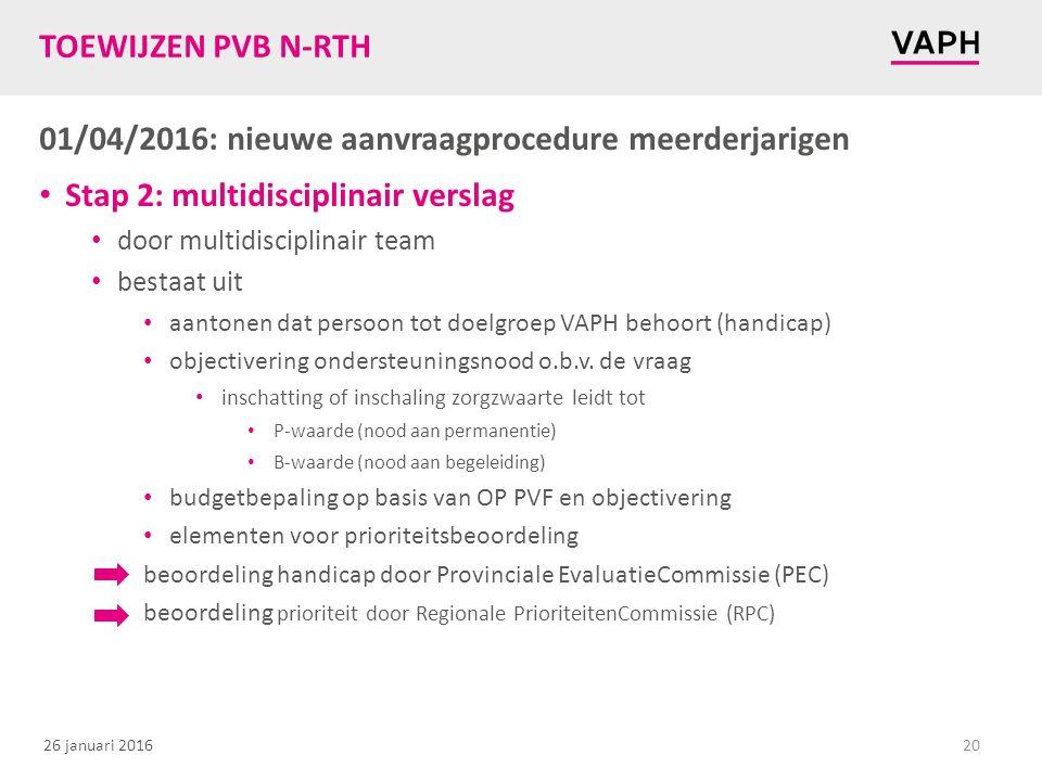 01/04/2016: nieuwe aanvraagprocedure meerderjarigen