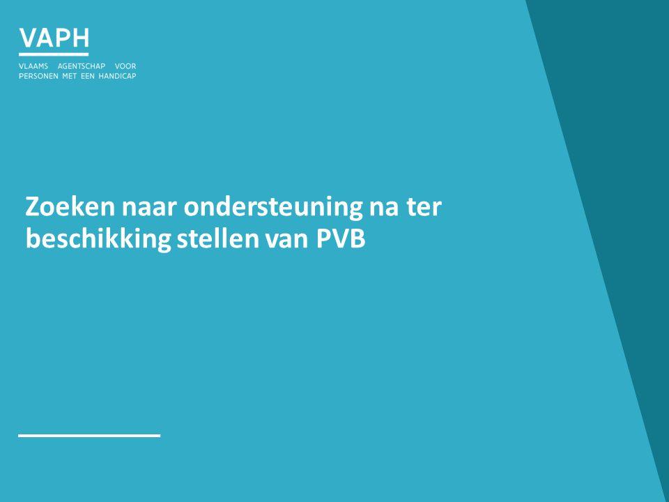 Zoeken naar ondersteuning na ter beschikking stellen van PVB