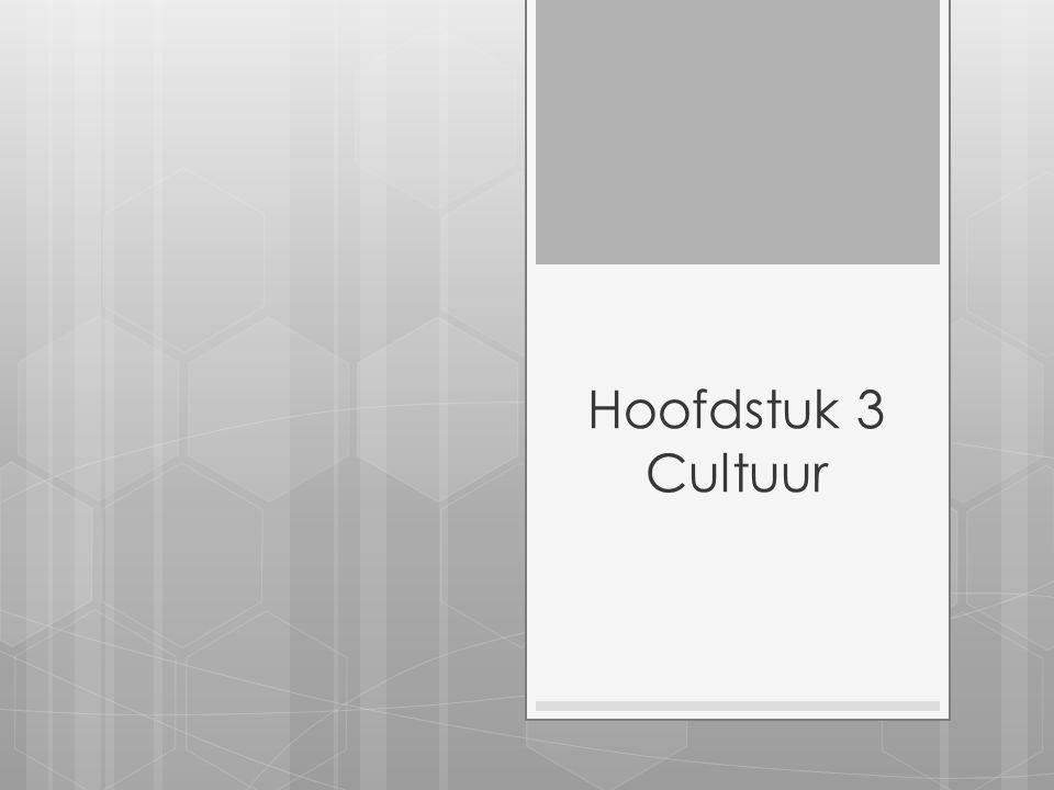 Hoofdstuk 3 Cultuur