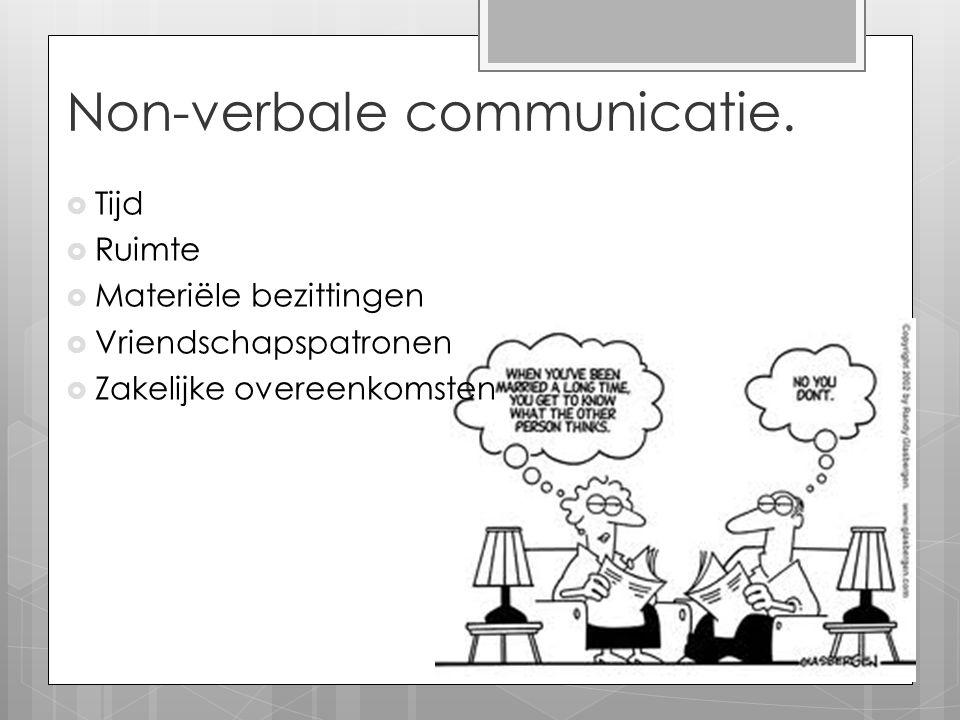 Non-verbale communicatie.