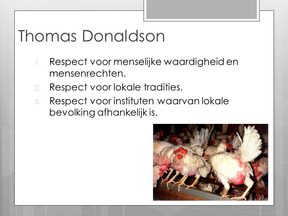 Thomas Donaldson Respect voor menselijke waardigheid en mensenrechten.