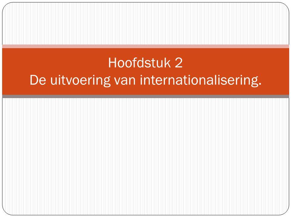 Hoofdstuk 2 De uitvoering van internationalisering.