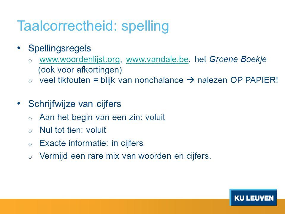 Taalcorrectheid: spelling