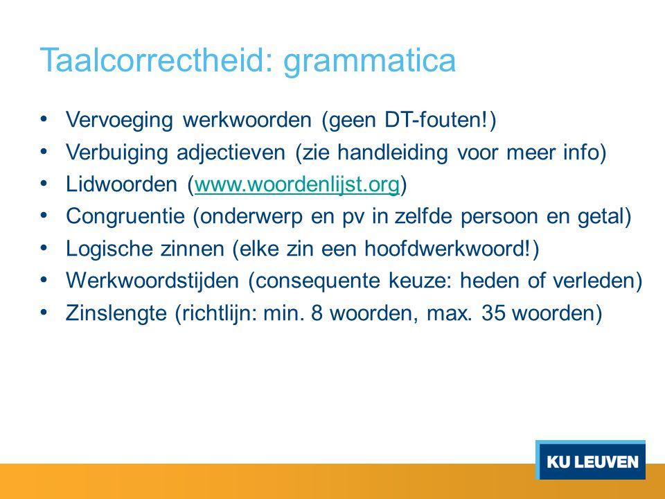 Taalcorrectheid: grammatica