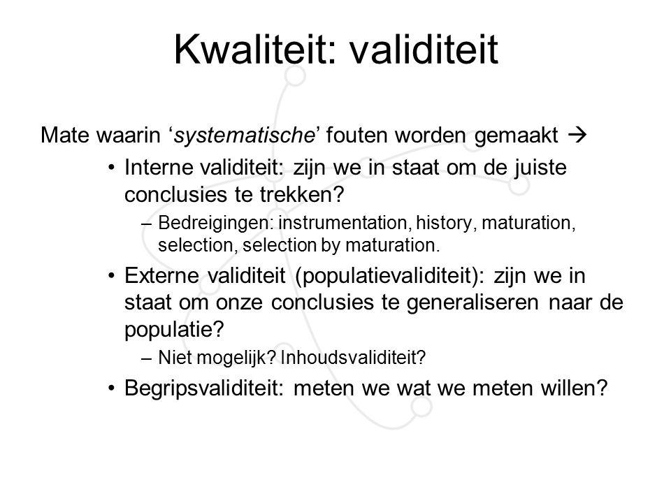 Kwaliteit: validiteit