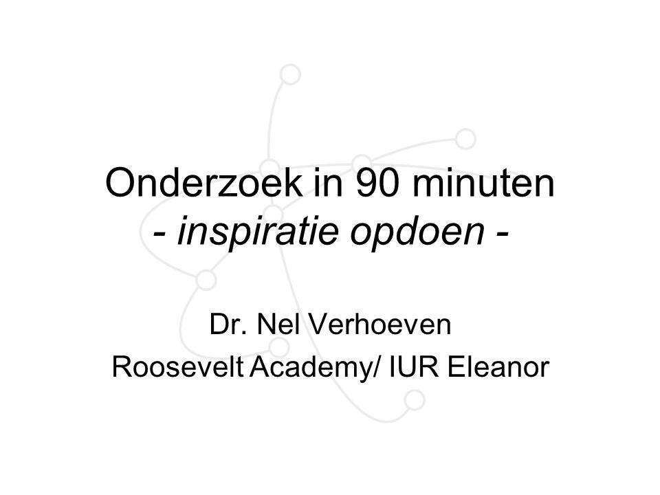 Onderzoek in 90 minuten - inspiratie opdoen -