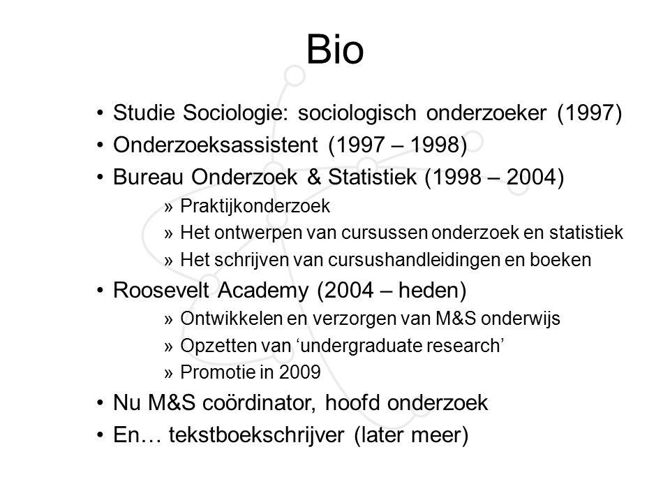 Bio Studie Sociologie: sociologisch onderzoeker (1997)
