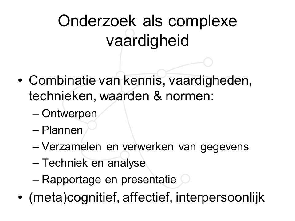 Onderzoek als complexe vaardigheid