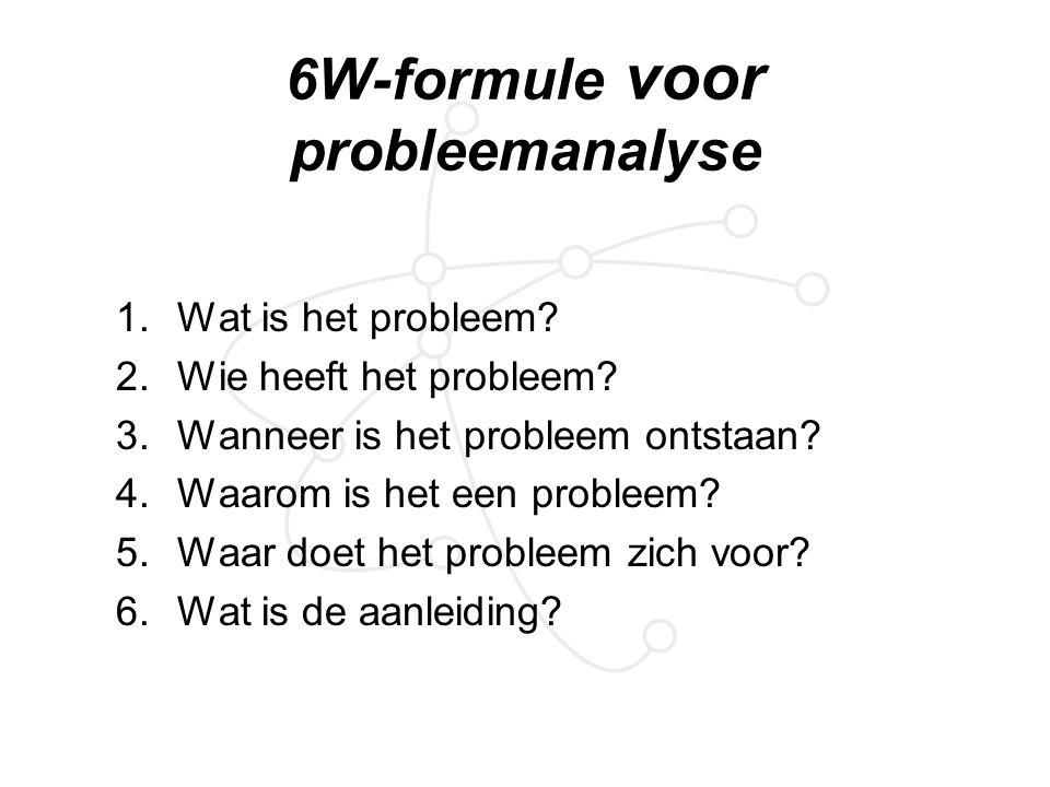 6W-formule voor probleemanalyse