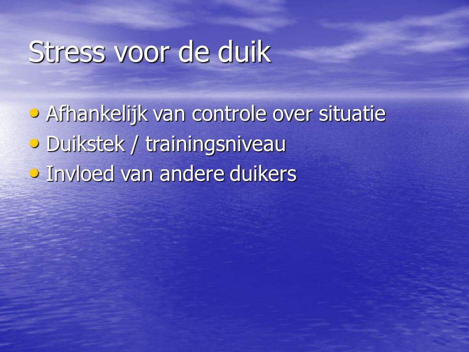 Stress voor de duik Afhankelijk van controle over situatie