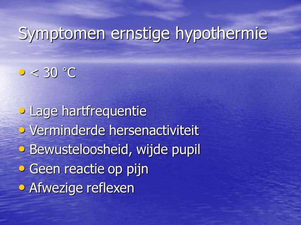 Symptomen ernstige hypothermie