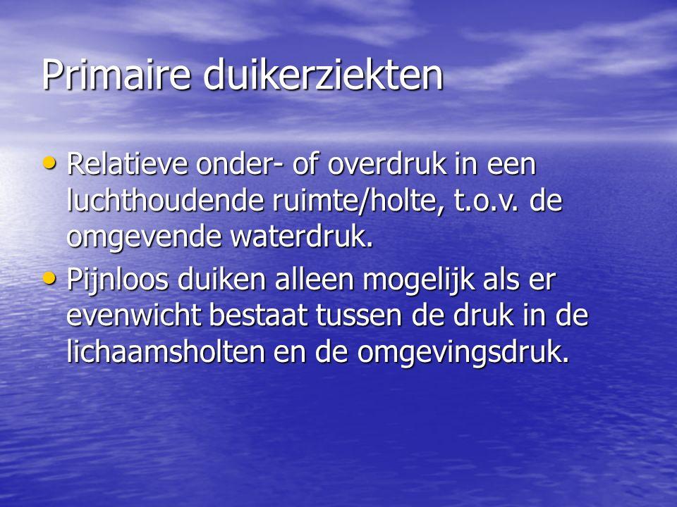 Primaire duikerziekten