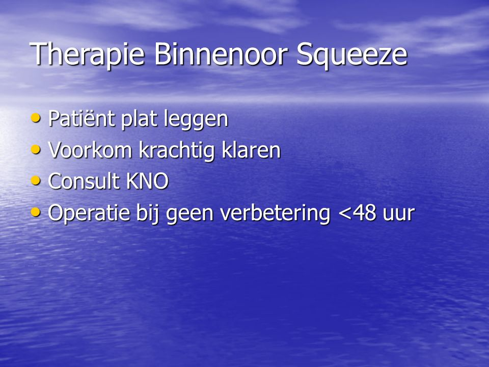 Therapie Binnenoor Squeeze