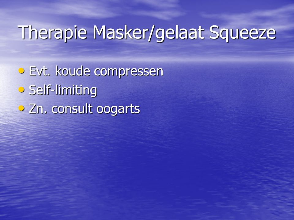 Therapie Masker/gelaat Squeeze