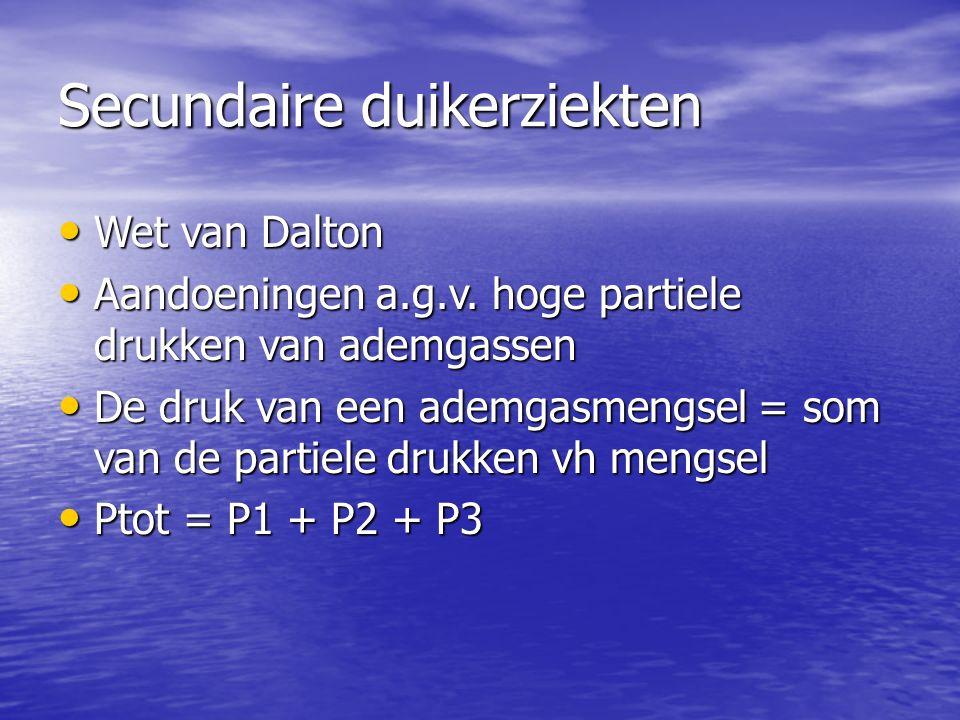 Secundaire duikerziekten