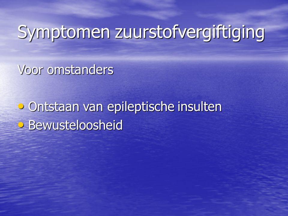 Symptomen zuurstofvergiftiging