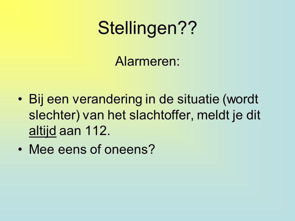 Stellingen Alarmeren: