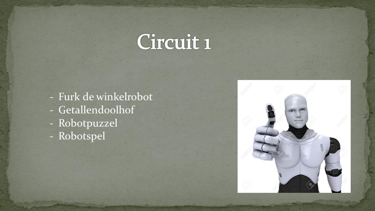 Circuit 1 Furk de winkelrobot Getallendoolhof Robotpuzzel Robotspel