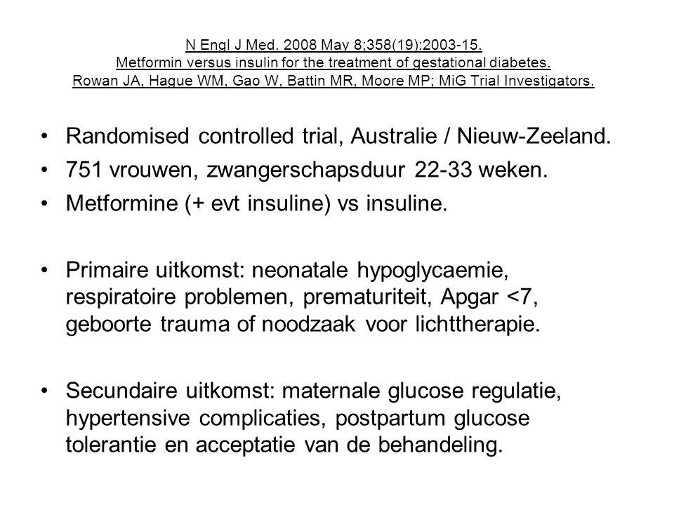 Randomised controlled trial, Australie / Nieuw-Zeeland.