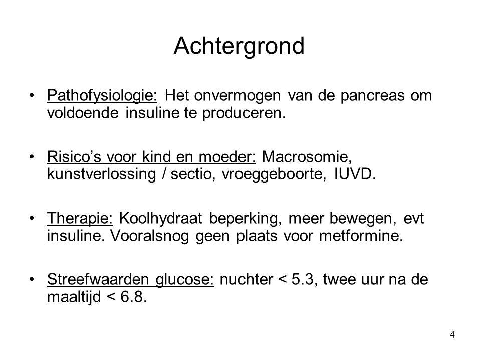 Achtergrond Pathofysiologie: Het onvermogen van de pancreas om voldoende insuline te produceren.