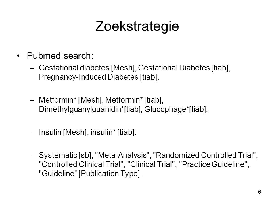 Zoekstrategie Pubmed search: