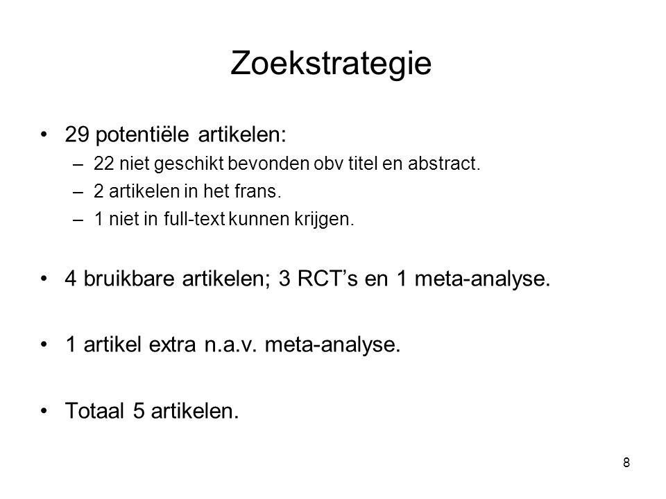 Zoekstrategie 29 potentiële artikelen: