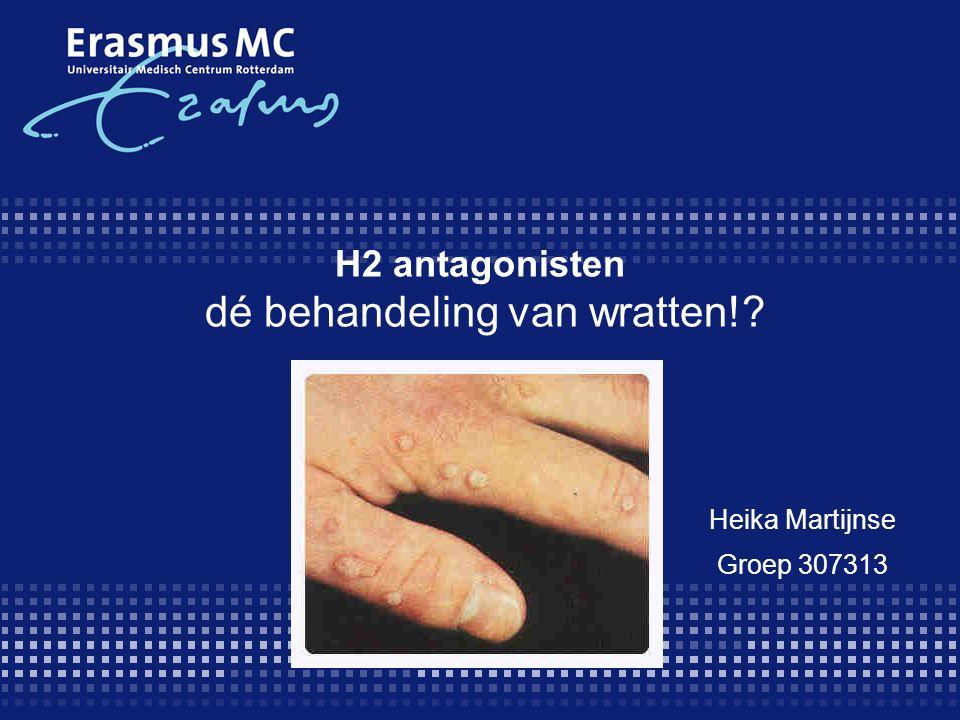 H2 antagonisten dé behandeling van wratten!