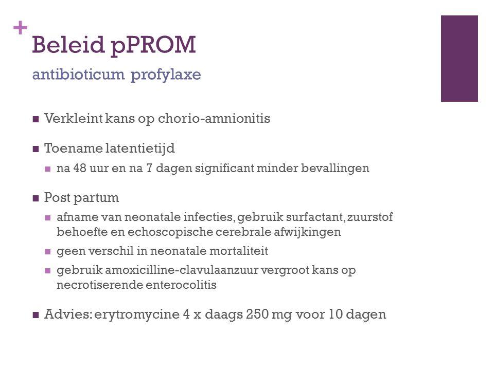 Beleid pPROM antibioticum profylaxe