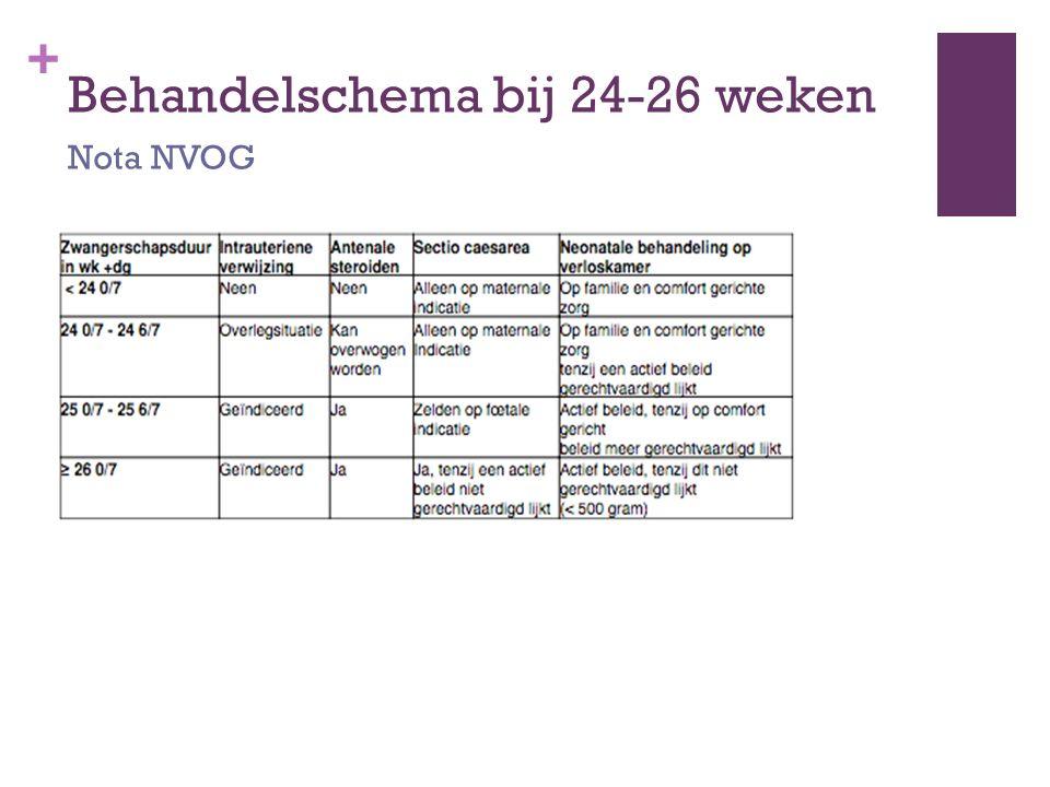 Behandelschema bij 24-26 weken