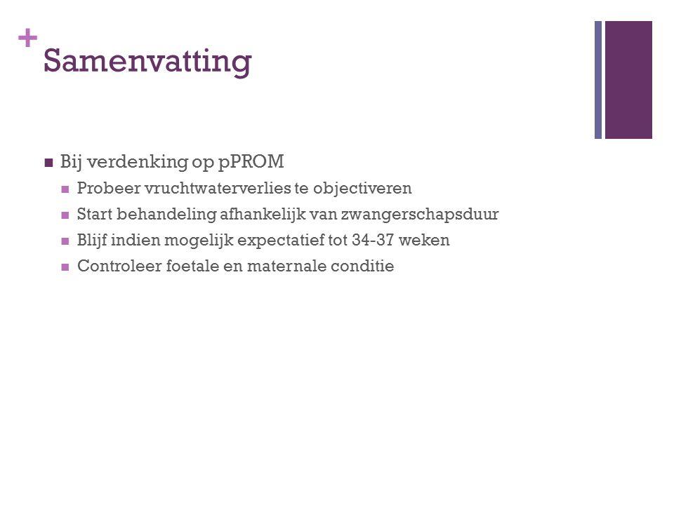 Samenvatting Bij verdenking op pPROM
