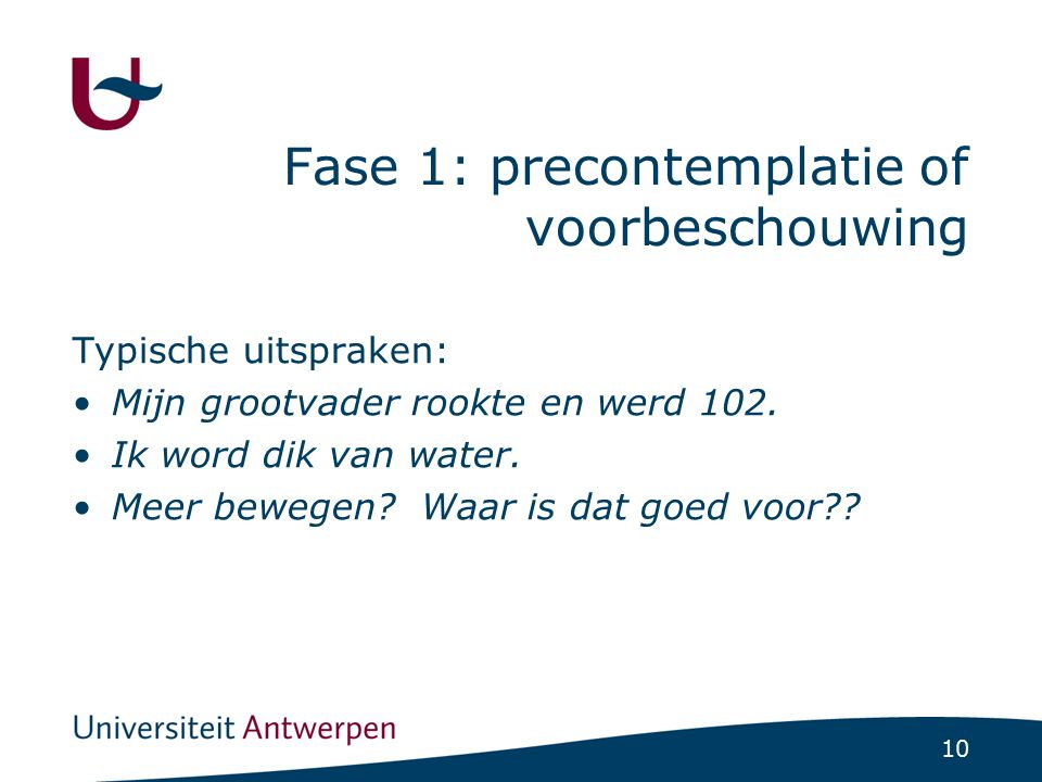 Fase 2: contemplatie of overwegingsfase