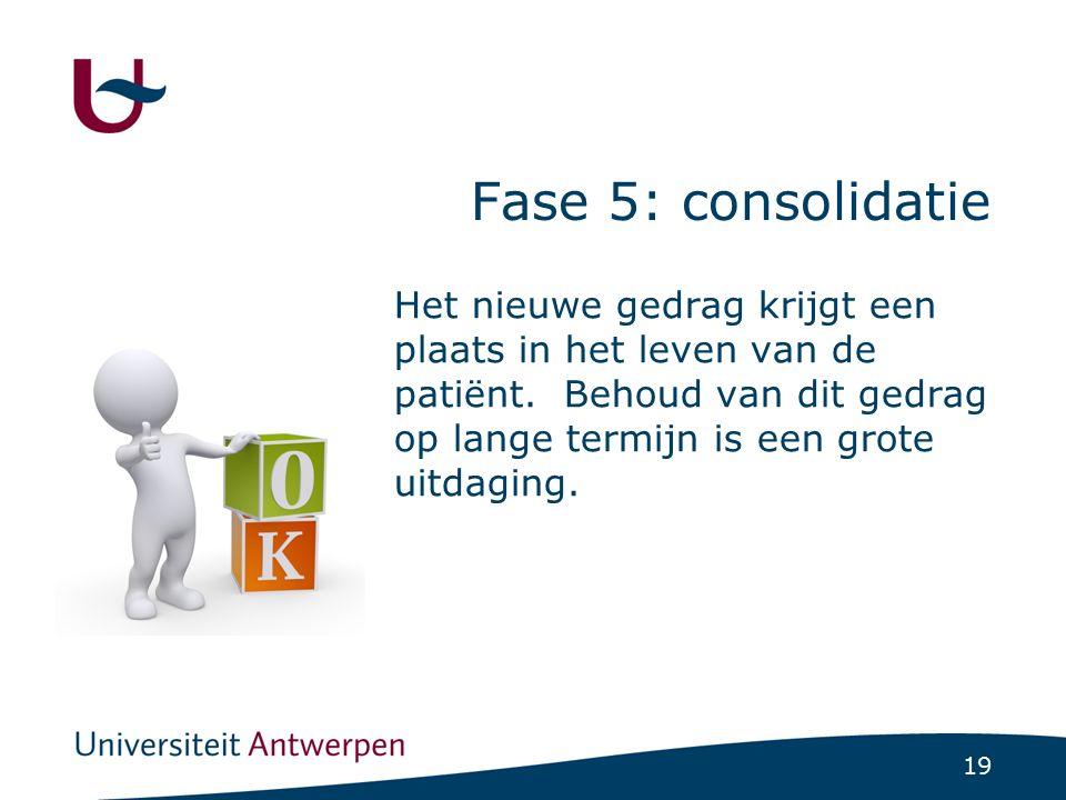 Fase 5: Consolidatie Typische uitspraken: