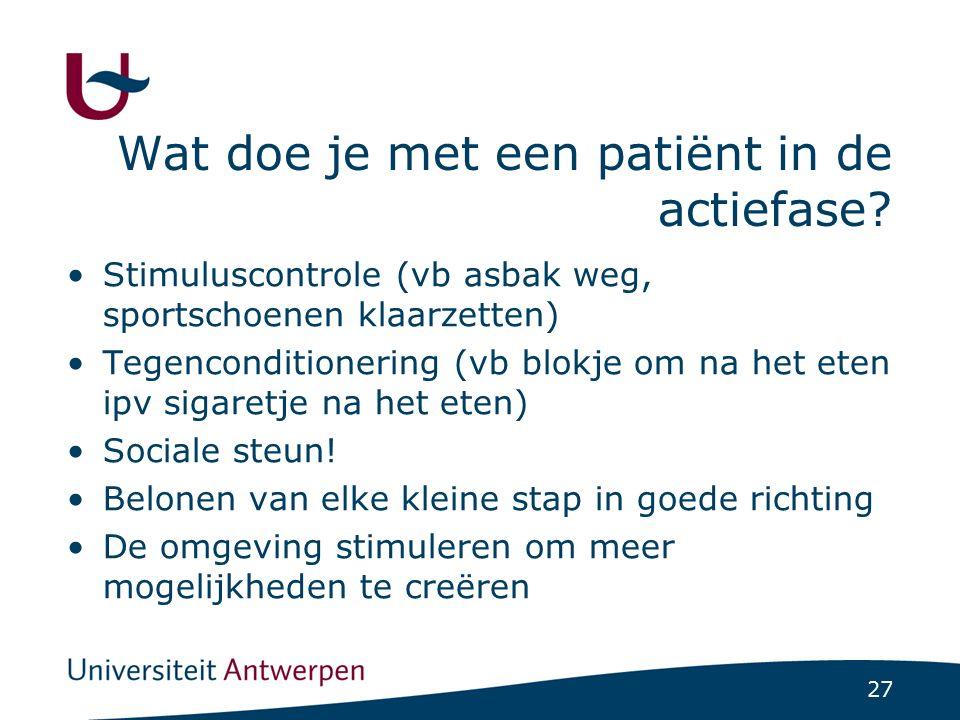 Wat doe je met een patiënt in de consolidatiefase