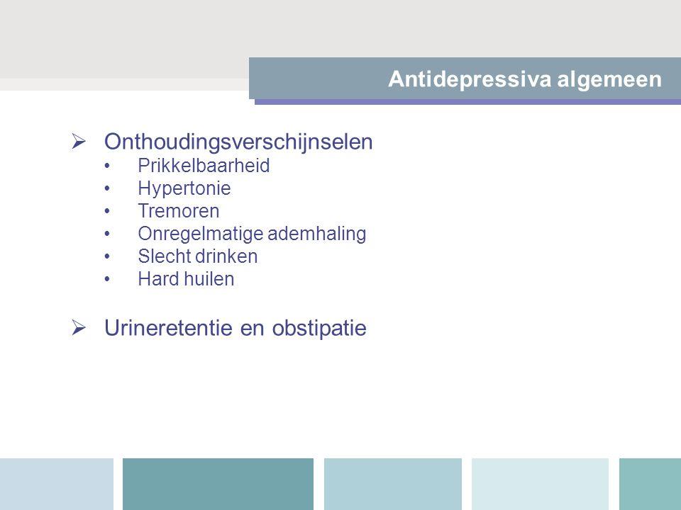 Antidepressiva algemeen