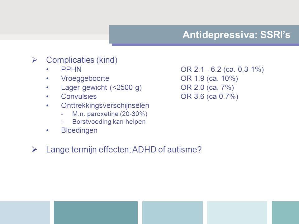 Antidepressiva: SSRI's