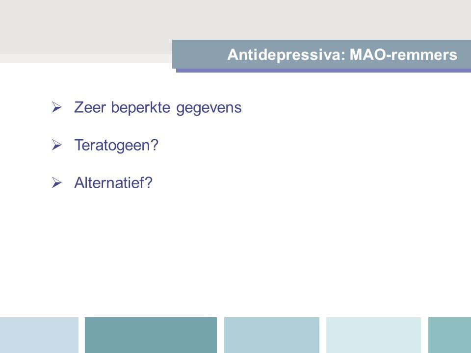 Antidepressiva: MAO-remmers