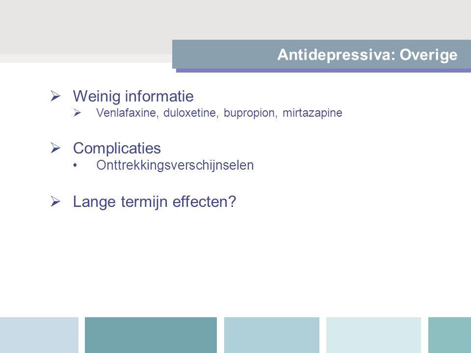 Antidepressiva: Overige