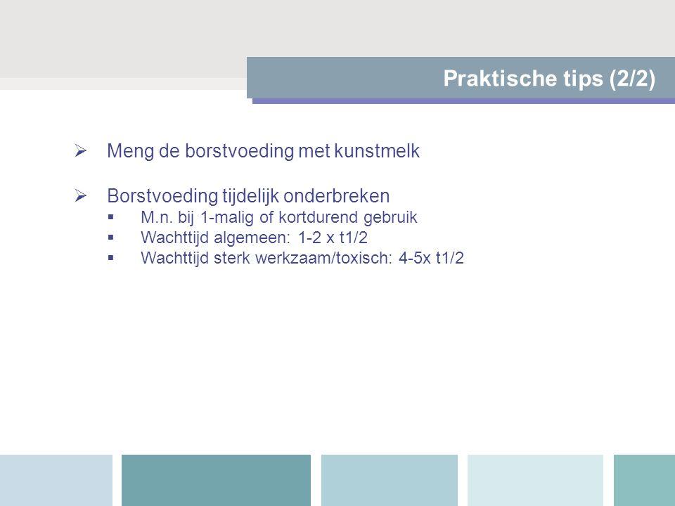 Praktische tips (2/2) Meng de borstvoeding met kunstmelk