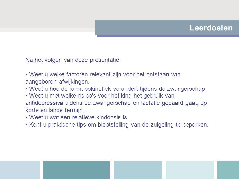 Leerdoelen Na het volgen van deze presentatie: