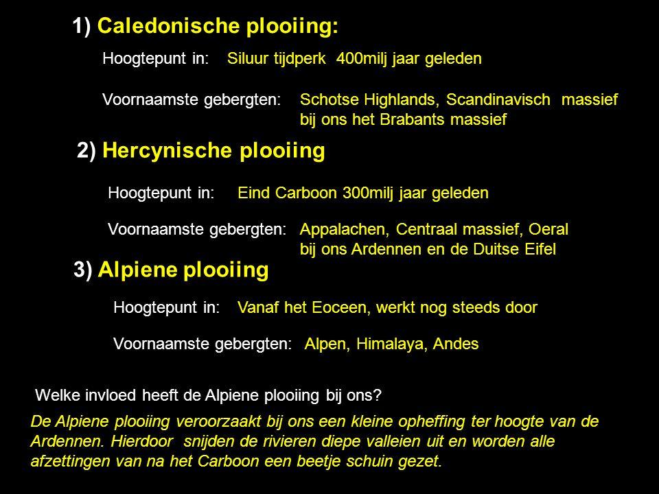 1) Caledonische plooiing: