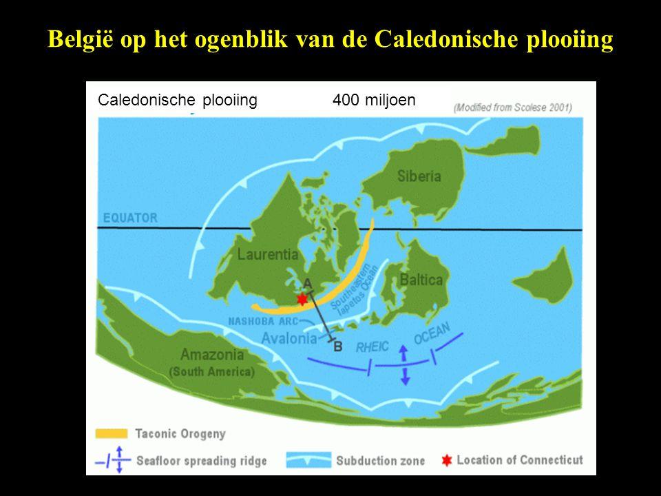 België op het ogenblik van de Caledonische plooiing